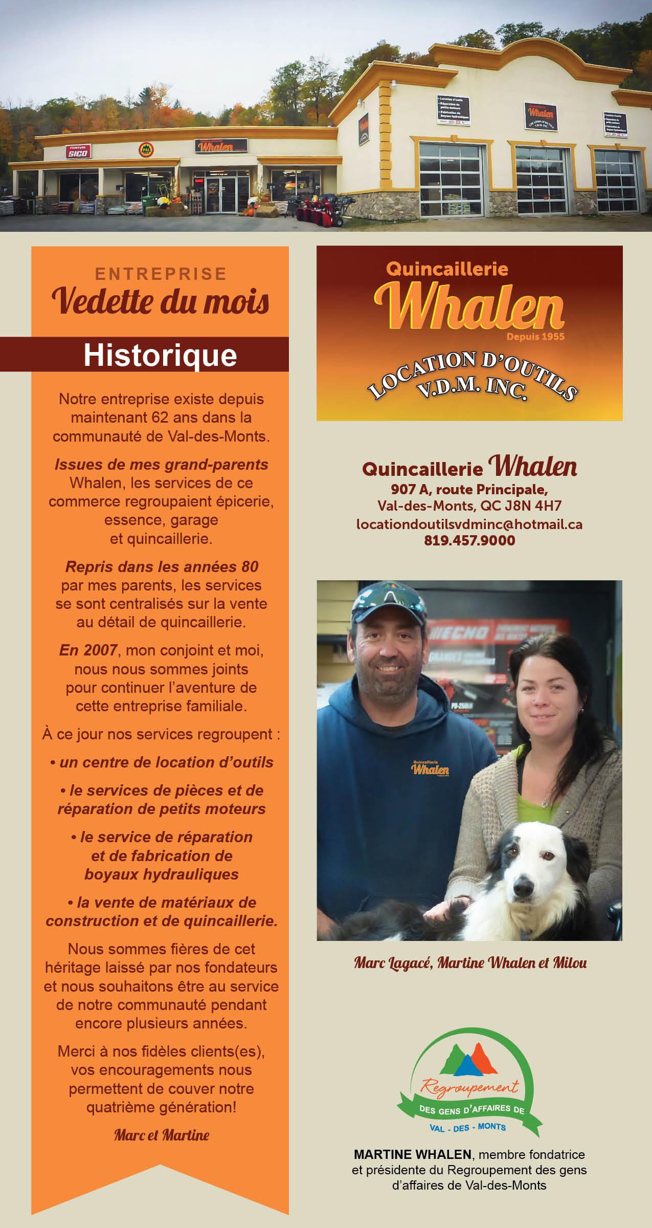 Vedette Quincaillerie Whalen